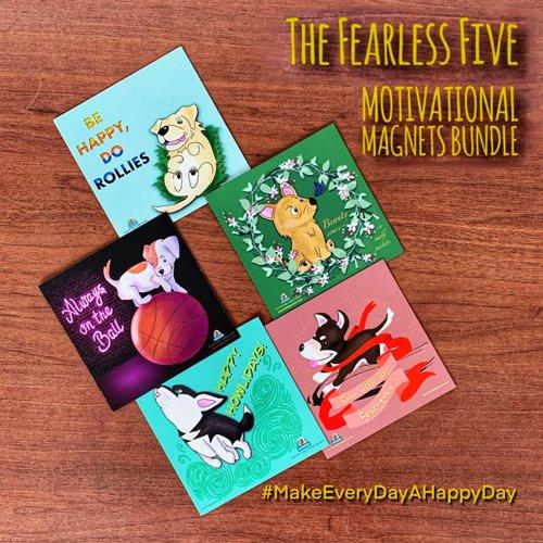 PSMM-06 Fearless Five Motivational Magnets Bundle